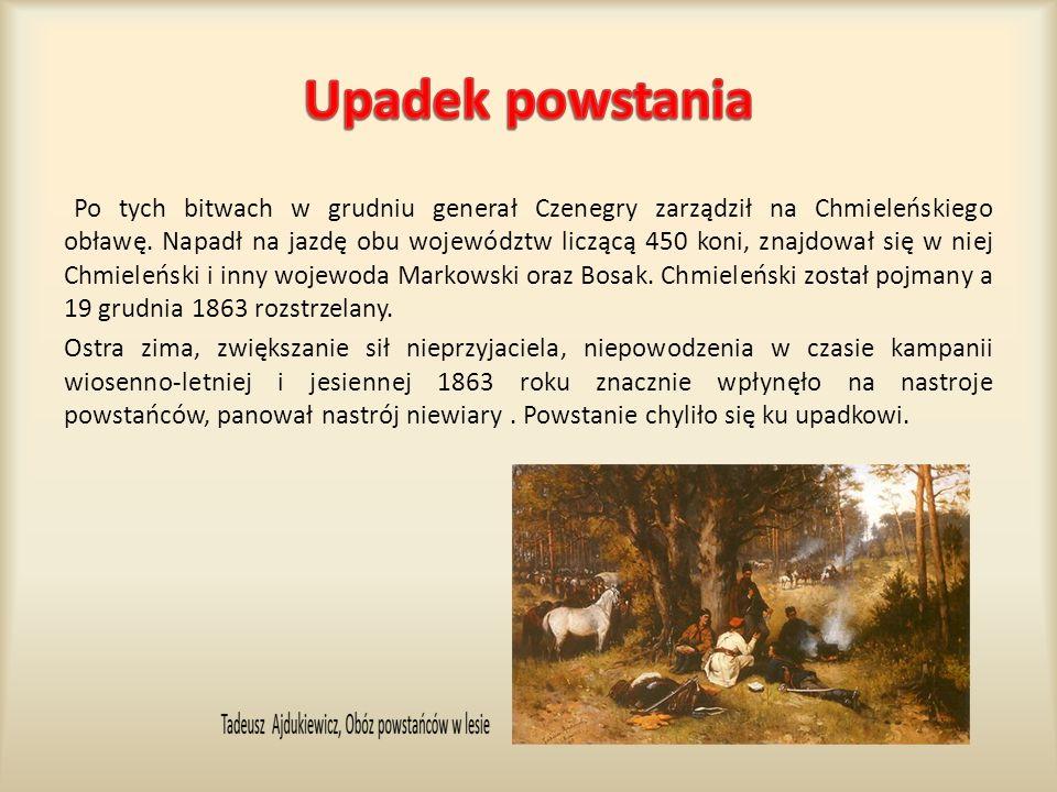 Po tych bitwach w grudniu generał Czenegry zarządził na Chmieleńskiego obławę. Napadł na jazdę obu województw liczącą 450 koni, znajdował się w niej C
