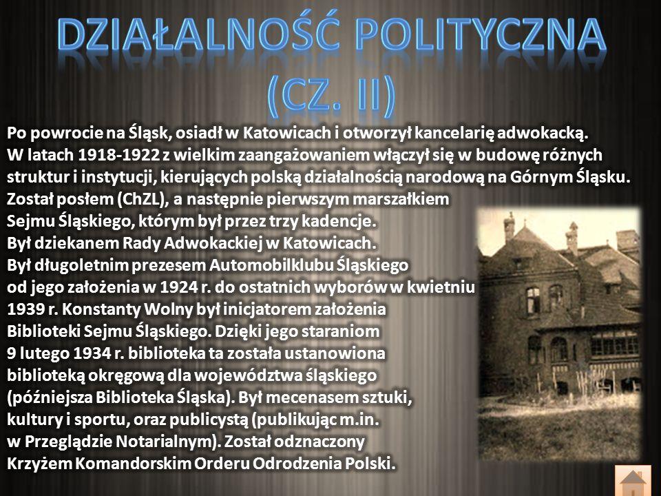 We wrześniu 1939 r., uciekając przed Niemcami, dotarł w połowie września do Lwowa, gdzie był jednym ze współzałożycieli Śląskiego Komitetu Uchodźców.
