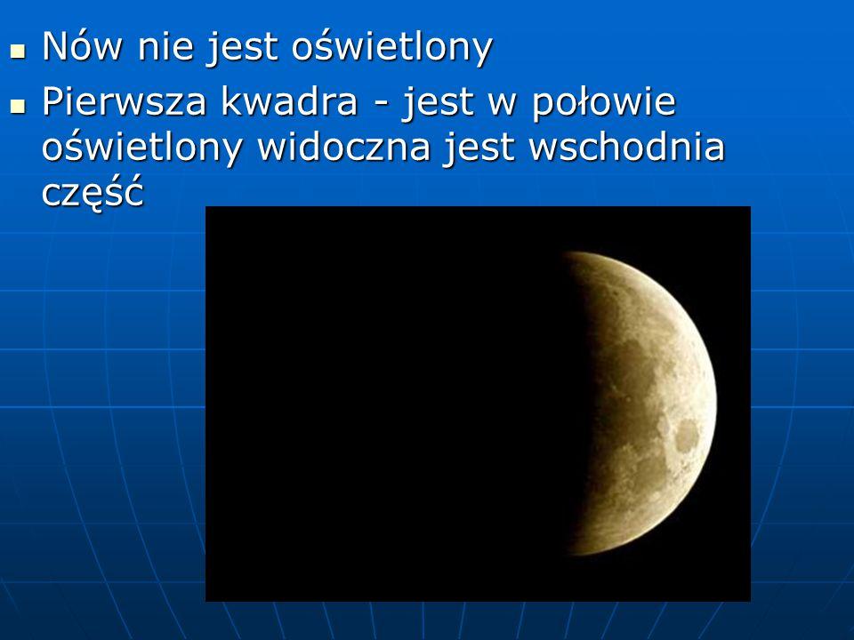 Ciekawostki o księżycu Księżyc krąży w odległości zaledwie 380 000 km od ziemi.