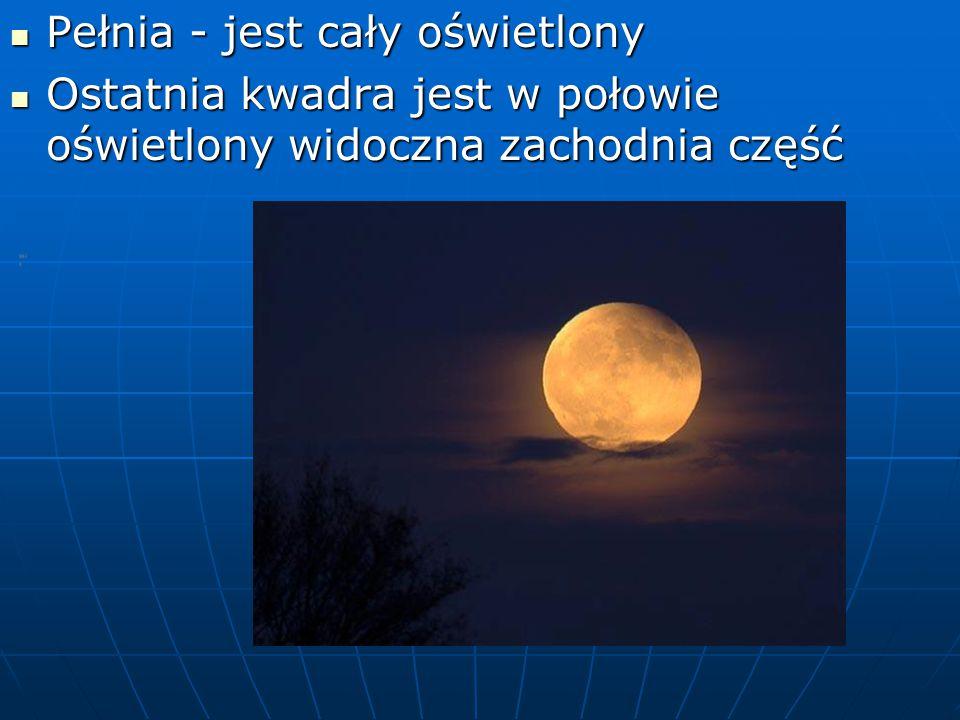 Zaćmienie księżyca Zaćmienie księżyca – jego tarcza jest Zaćmienie księżyca – jego tarcza jest miedziano- miedziano- czerwona.