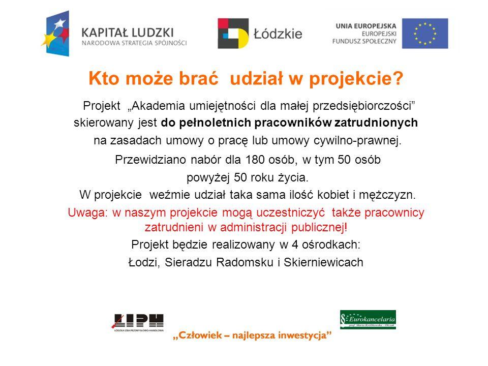 """Dokumenty rekrutacyjne do projektu dostępne są na stronie internetowej www.izba.lodz.pl w zakładce """"Akademia umiejętności dla małej przedsiębiorczości Kontakt tel."""