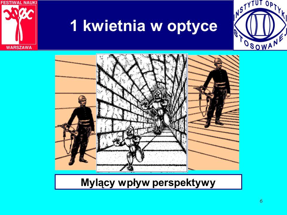 6 1 kwietnia w optyce Mylący wpływ perspektywy
