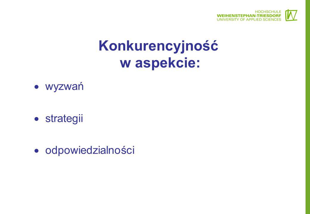 Konkurencyjność w aspekcie:  wyzwań  strategii  odpowiedzialności