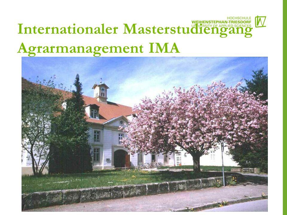 Internationaler Masterstudiengang Agrarmanagement IMA