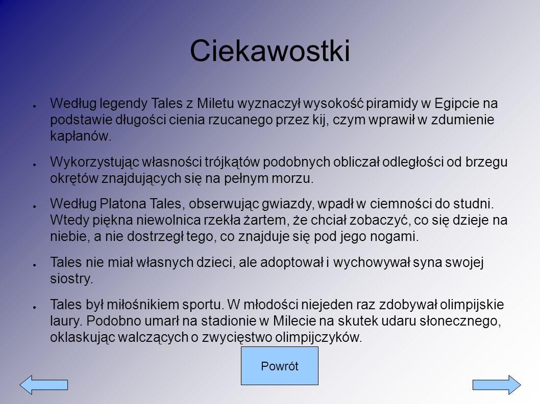 Portret Talesa z Miletu Powrót