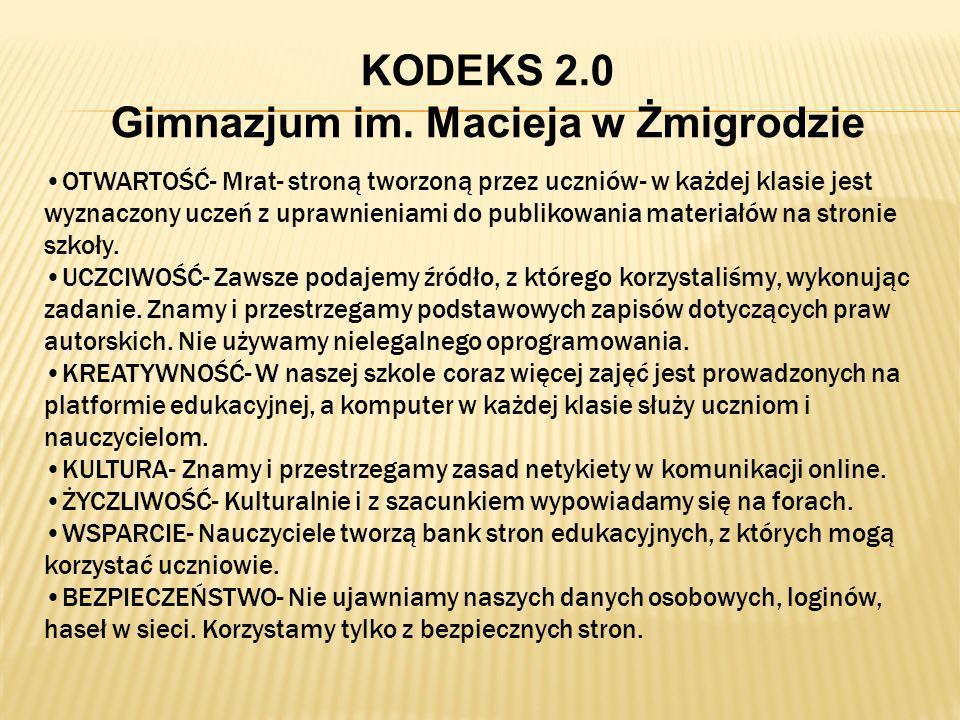 KODEKS 2.0 Gimnazjum im.