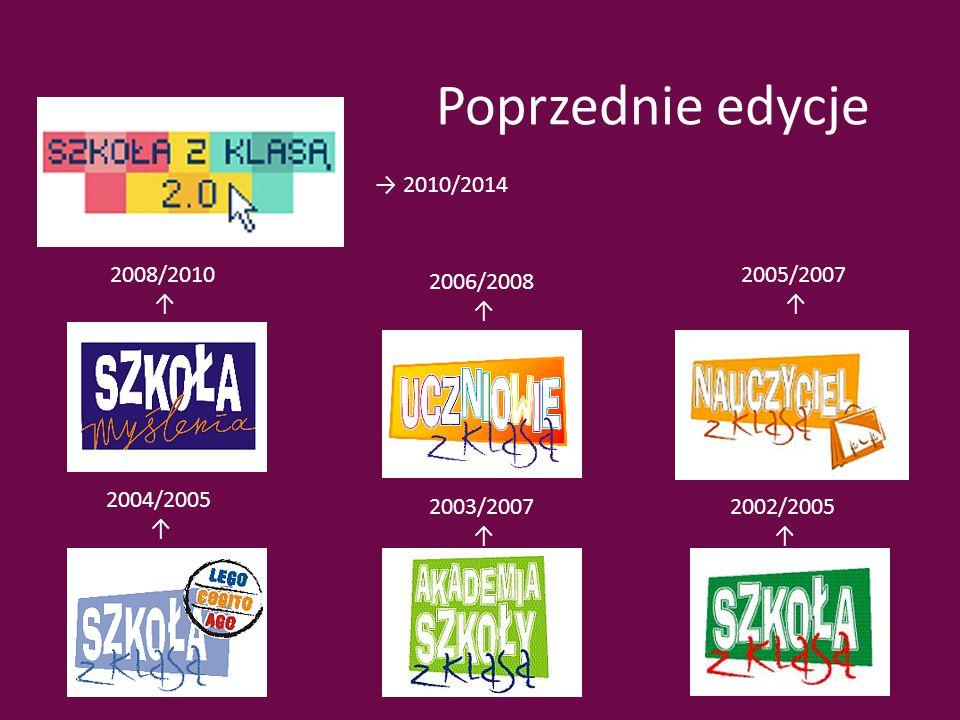 Poprzednie edycje → 2010/2014 2008/2010 ↑ 2006/2008 ↑ 2005/2007 ↑ 2004/2005 ↑ 2003/2007 ↑ 2002/2005 ↑