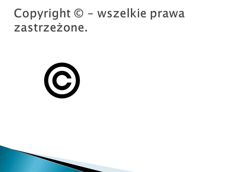 Jeśli kopiujecie informacje z innej strony zawsze podawajcie stronę, tytuł artykułu i jego autora, oraz, jeśli jest podana, także licencję.