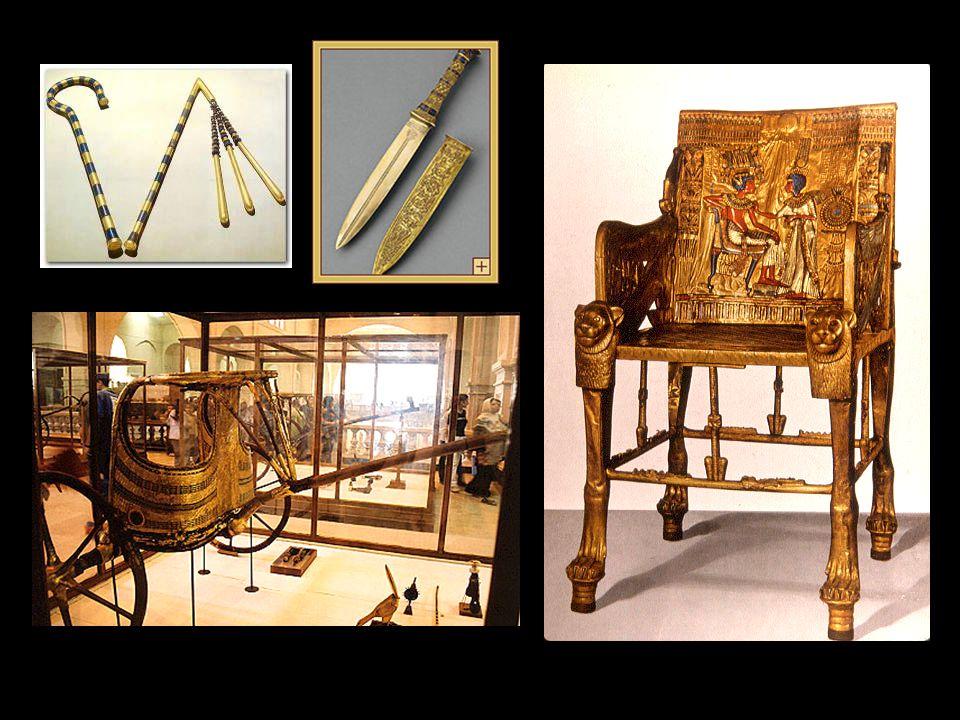 W SUMIE, 3500 PRZEDMIOTÓW ZNALEZIONO W OTOCZENIU GROBOWCA FARAONA TUTANKHAMUNA Można je podziwiać w MUZEUM NARODOWYM w Kairze i w muzeach całego świata