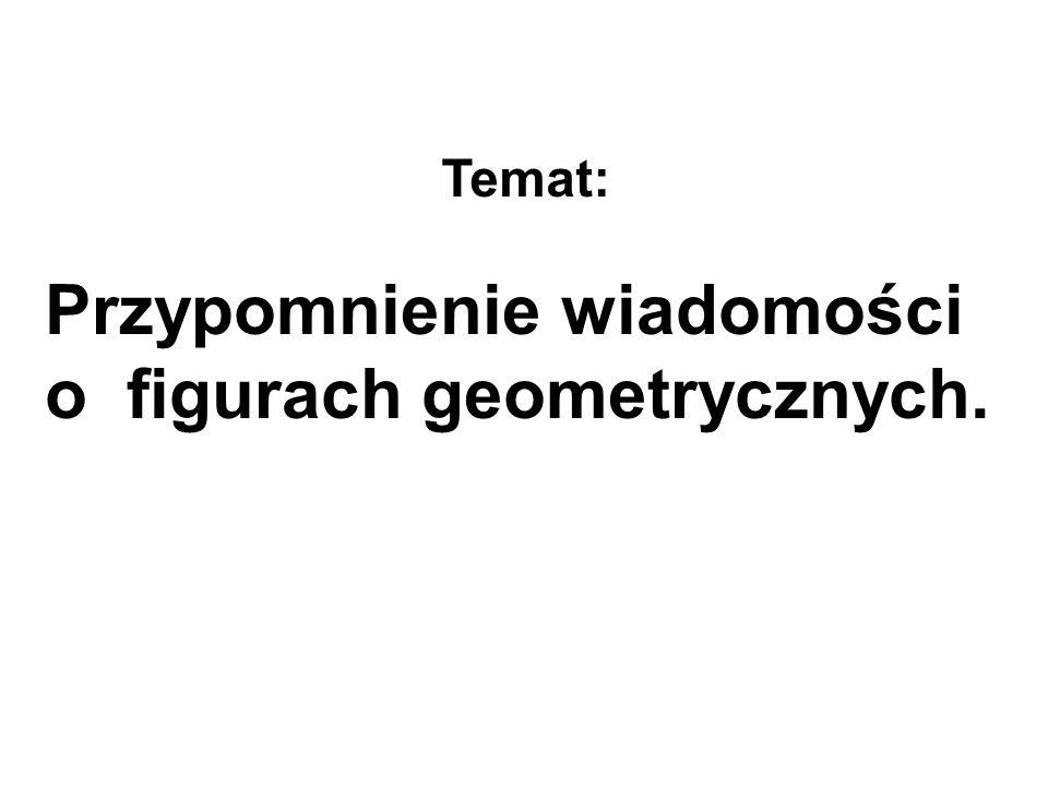 Przypomnienie wiadomości o figurach geometrycznych. Temat: