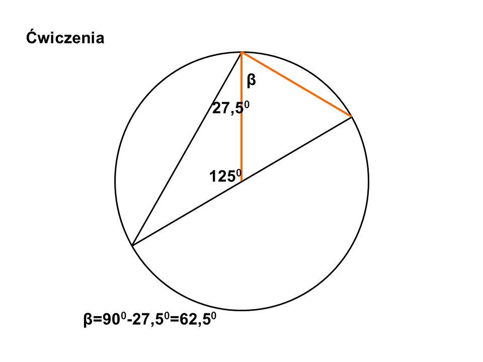 Ćwiczenia 125 0 β 27,5 0 β=90 0 -27,5 0 =62,5 0
