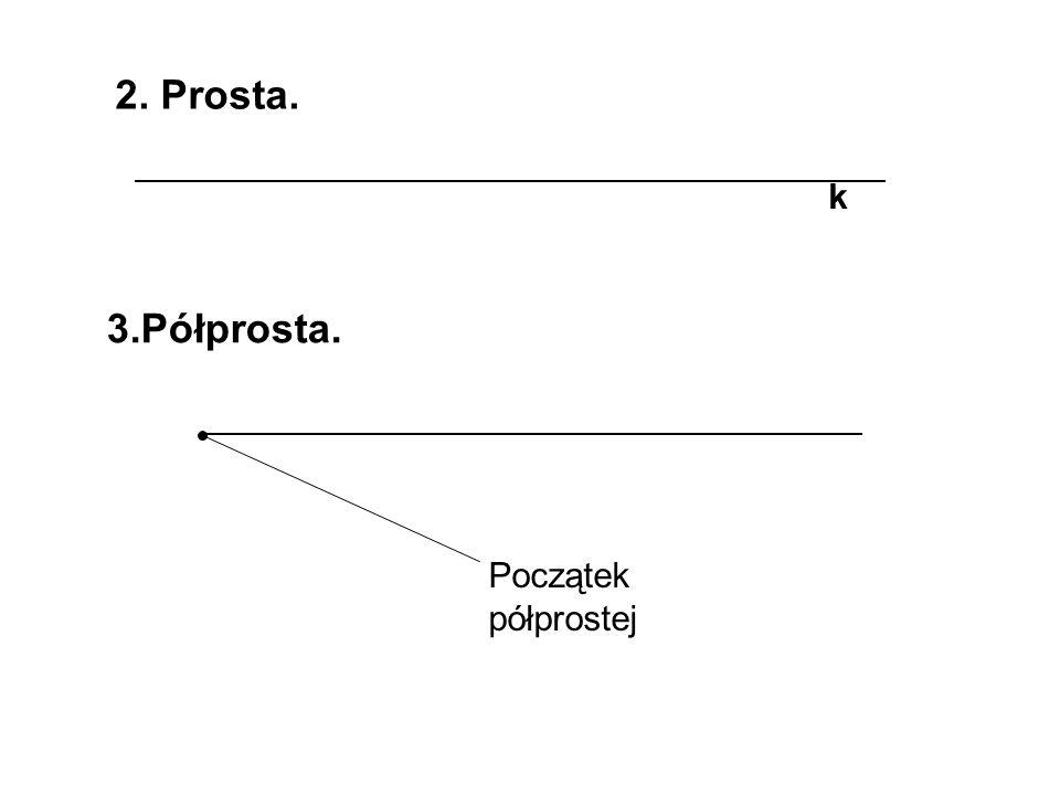 2. Czworokąt c) równoległobokd) romb b a P= P=ah l=4a l=2a+2b d1d1 d2d2 h a 1 2 d 1 d 2