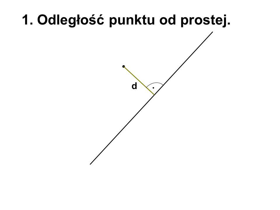 1. Odległość punktu od prostej. d
