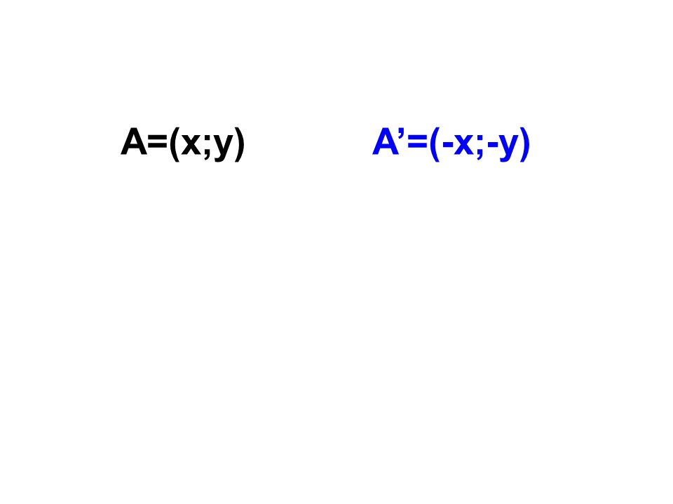A=(x;y) A'=(-x;-y)