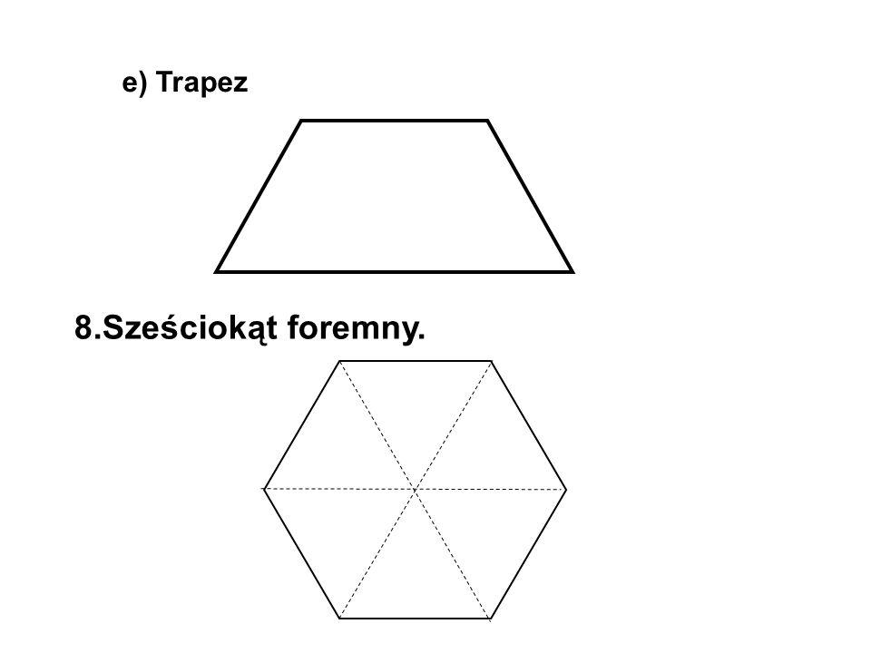 Zad.1 Jan Kowalski kupił działkę w kształcie trapezu prostokątnego.
