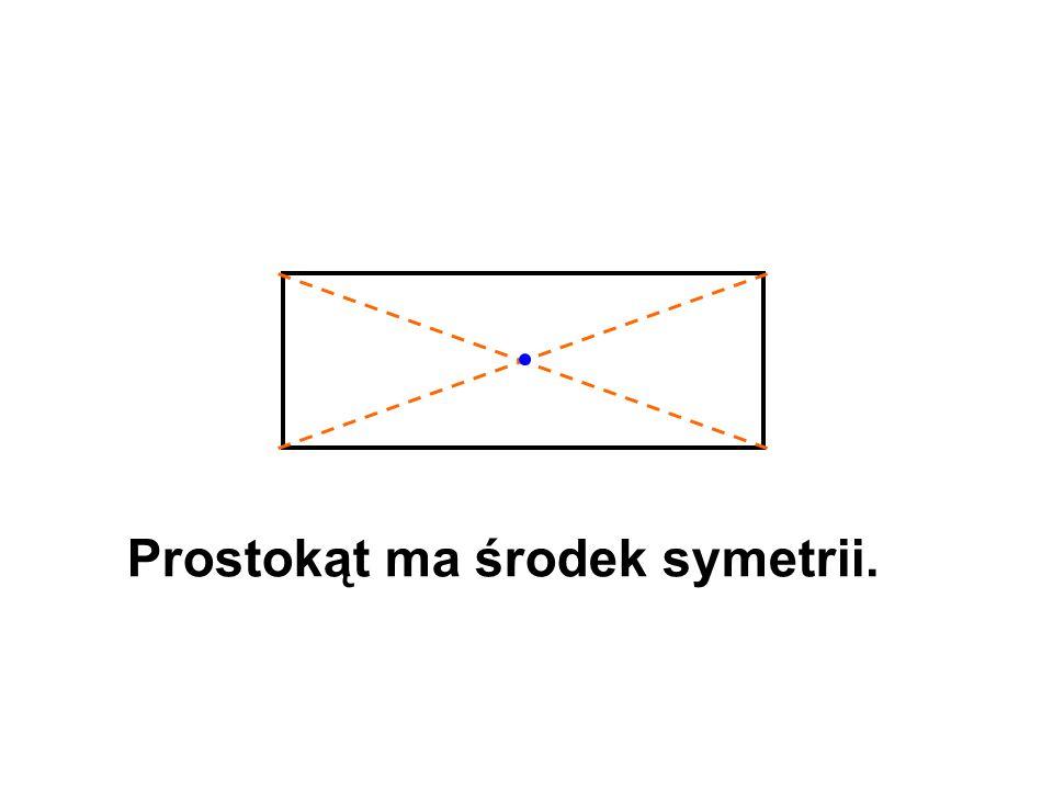 Prostokąt ma środek symetrii.