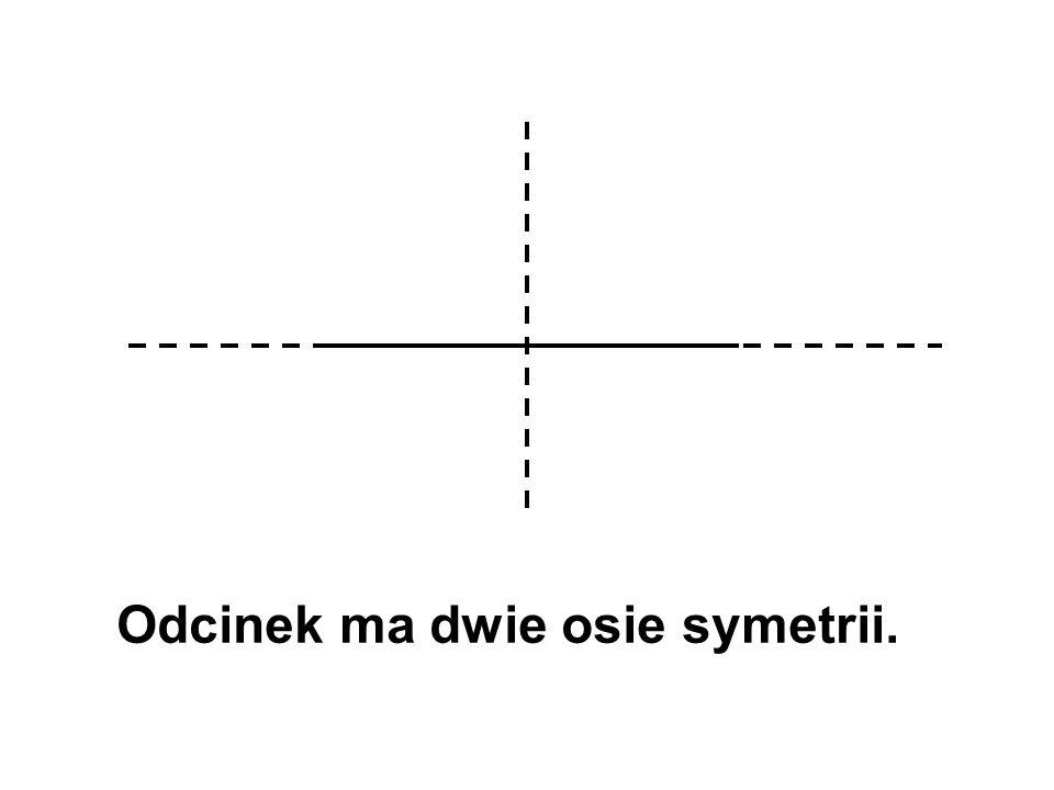 Odcinek ma dwie osie symetrii.