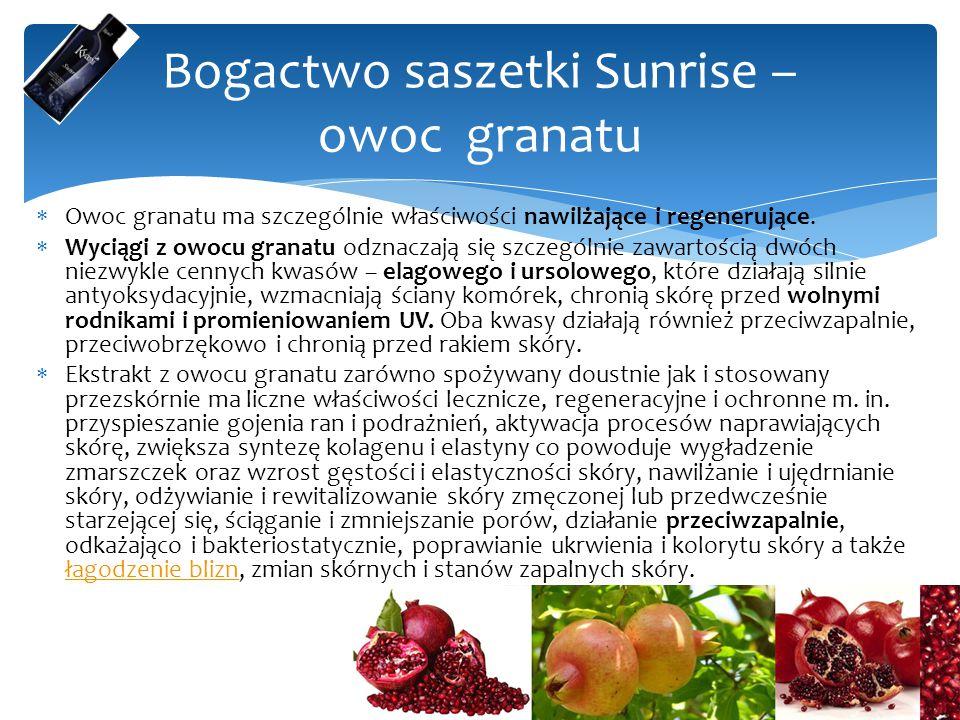  Owoc granatu ma szczególnie właściwości nawilżające i regenerujące.