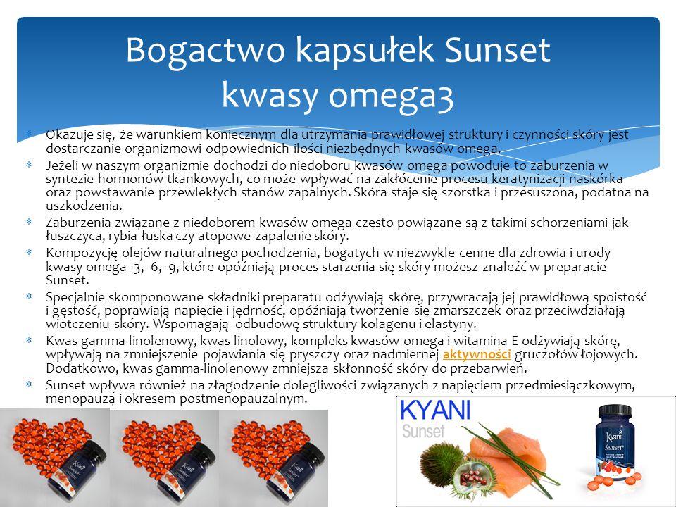  Okazuje się, że warunkiem koniecznym dla utrzymania prawidłowej struktury i czynności skóry jest dostarczanie organizmowi odpowiednich ilości niezbędnych kwasów omega.