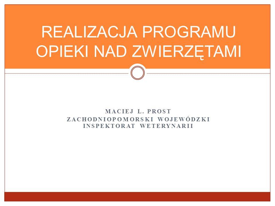 PROGRAM OPIEKI NAD ZWIERZĘTAMI Art.11a. (37) 1.