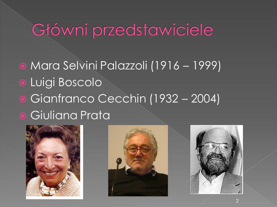  Mara Selvini Palazzoli (1916 – 1999)  Luigi Boscolo  Gianfranco Cecchin (1932 – 2004)  Giuliana Prata 2