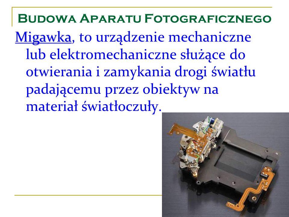 Budowa Aparatu Fotograficznego Migawka Migawka, to urządzenie mechaniczne lub elektromechaniczne służące do otwierania i zamykania drogi światłu padaj