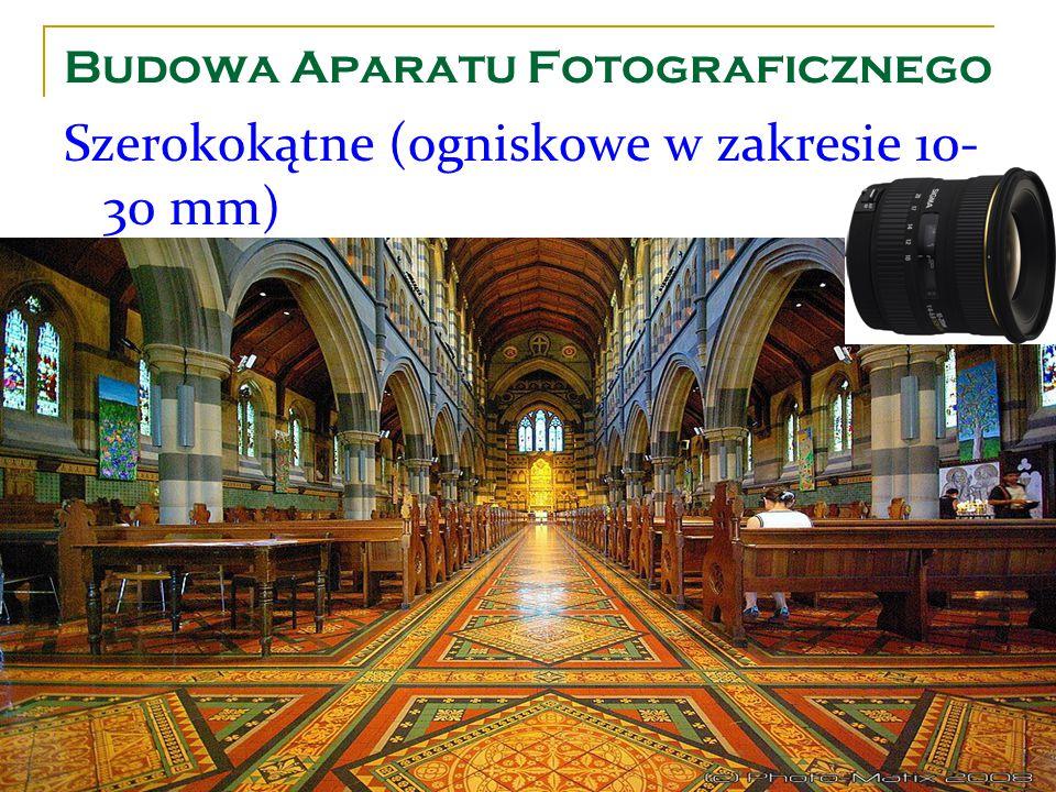 Budowa Aparatu Fotograficznego Szerokokątne (ogniskowe w zakresie 10- 30 mm)