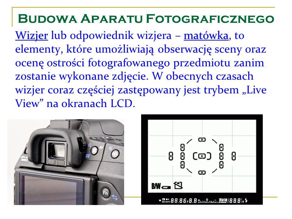 Wizjermatówka Wizjer lub odpowiednik wizjera – matówka, to elementy, które umożliwiają obserwację sceny oraz ocenę ostrości fotografowanego przedmiotu