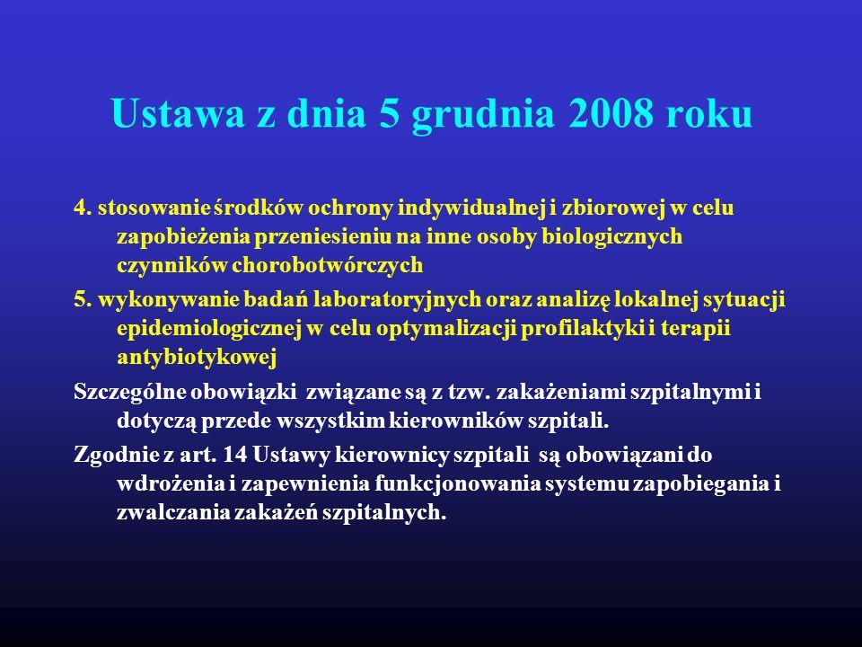 Ustawa z dnia 5 grudnia 2008 roku 4. stosowanie środków ochrony indywidualnej i zbiorowej w celu zapobieżenia przeniesieniu na inne osoby biologicznyc