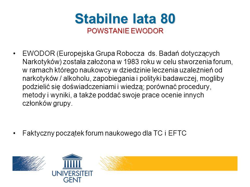 EWODOR (Europejska Grupa Robocza ds. Badań dotyczących Narkotyków) została założona w 1983 roku w celu stworzenia forum, w ramach którego naukowcy w d