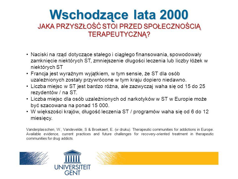 Naciski na rząd dotyczące stałego i ciągłego finansowania, spowodowały zamknięcie niektórych ST, zmniejszenie długości leczenia lub liczby łóżek w nie