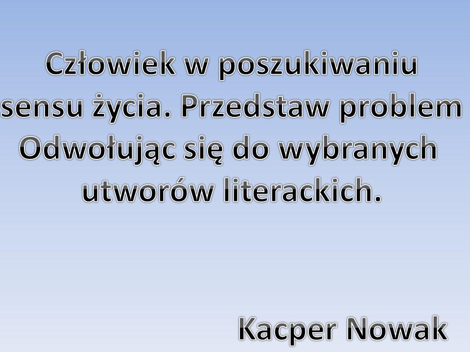  Poszukiwanie sensu życia podczas pobytu w Polsce( po powrocie z Nawłoci): a)Brak całkowitej akceptacji poglądów Szymona Gajowca oraz Antoniego Lulka(komunisty) b)Konferencja partii komunistycznej c)Marsz na Belweder d)Nierozstrzygnięta przyszłość Baryki za sprawą otwartego zakończenia powieści