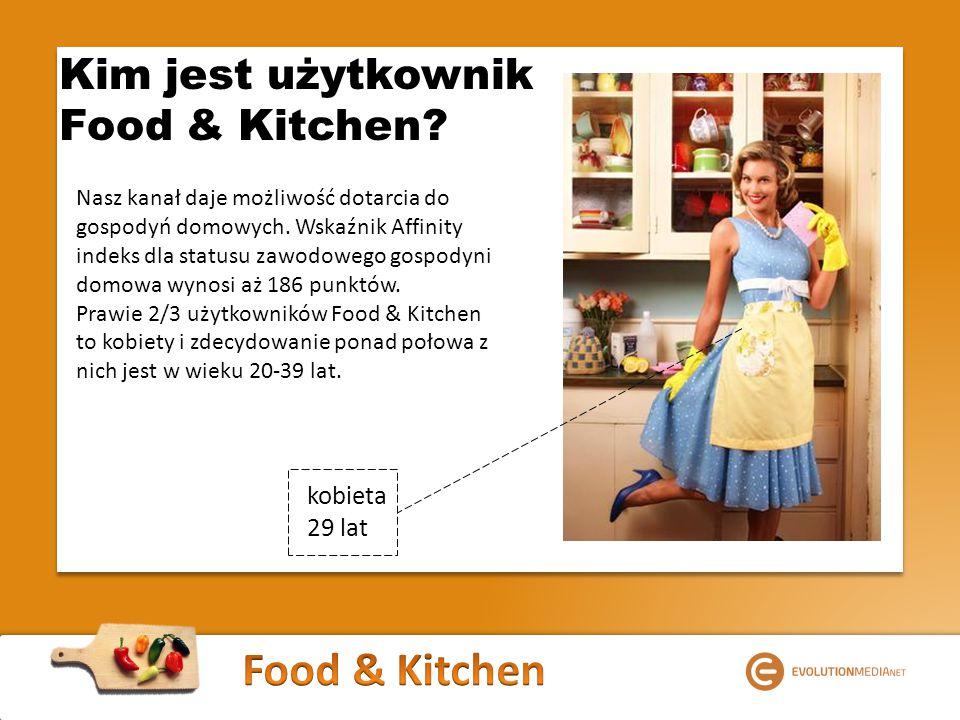 Kim jest użytkownik Food & Kitchen. Nasz kanał daje możliwość dotarcia do gospodyń domowych.