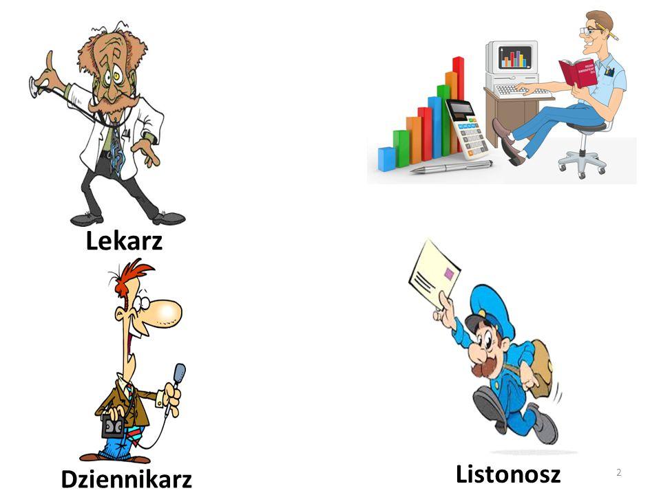 Dziennikarz Lekarz Listonosz 2