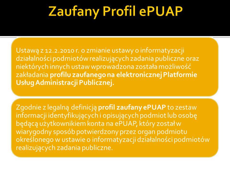 Ustawą z 12.2.2010 r. o zmianie ustawy o informatyzacji działalności podmiotów realizujących zadania publiczne oraz niektórych innych ustaw wprowadzon