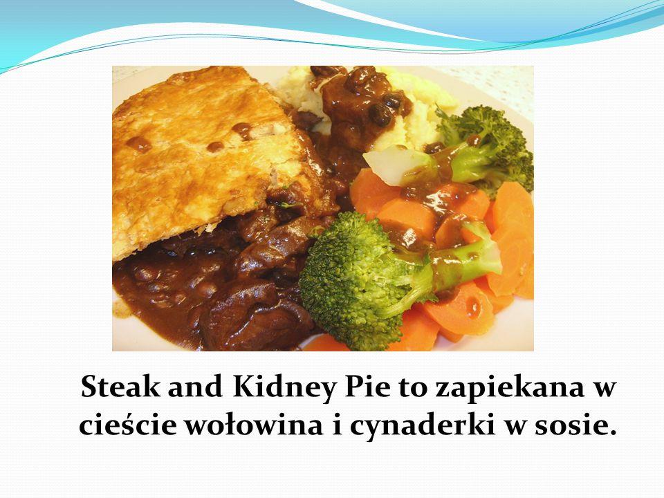 Steak and Kidney Pie to zapiekana w cieście wołowina i cynaderki w sosie.