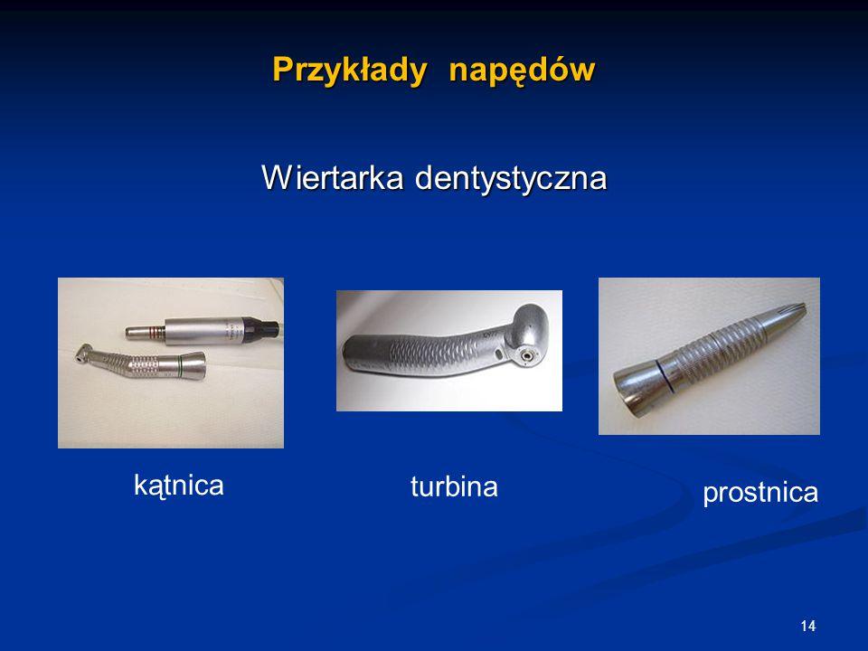 Przykłady napędów Wiertarka dentystyczna 14 turbina kątnica prostnica