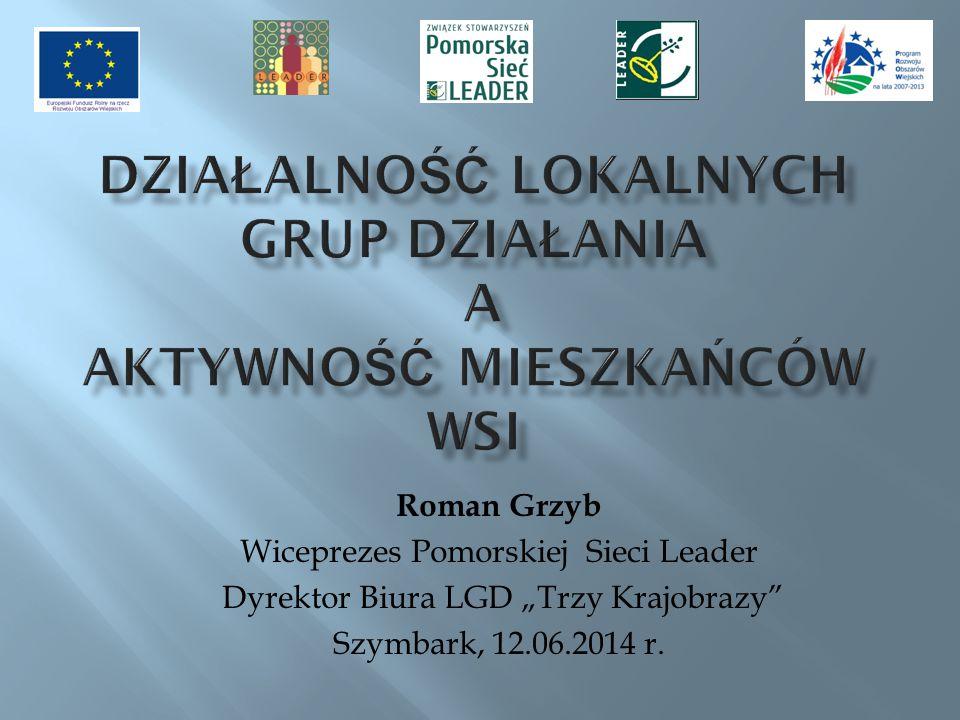 Pomorskie Lokalne Grupy Działania, realizujące podejście Leader w ramach PROW 2007-2013.