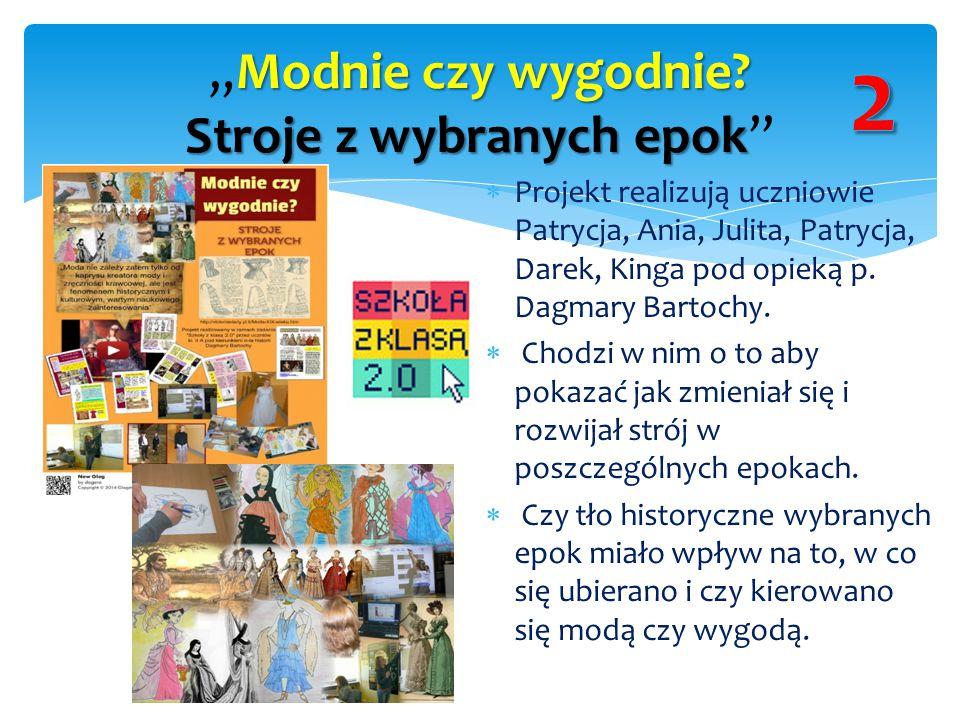  Projekt realizują uczniowie Patrycja, Ania, Julita, Patrycja, Darek, Kinga pod opieką p. Dagmary Bartochy.  Chodzi w nim o to aby pokazać jak zmien