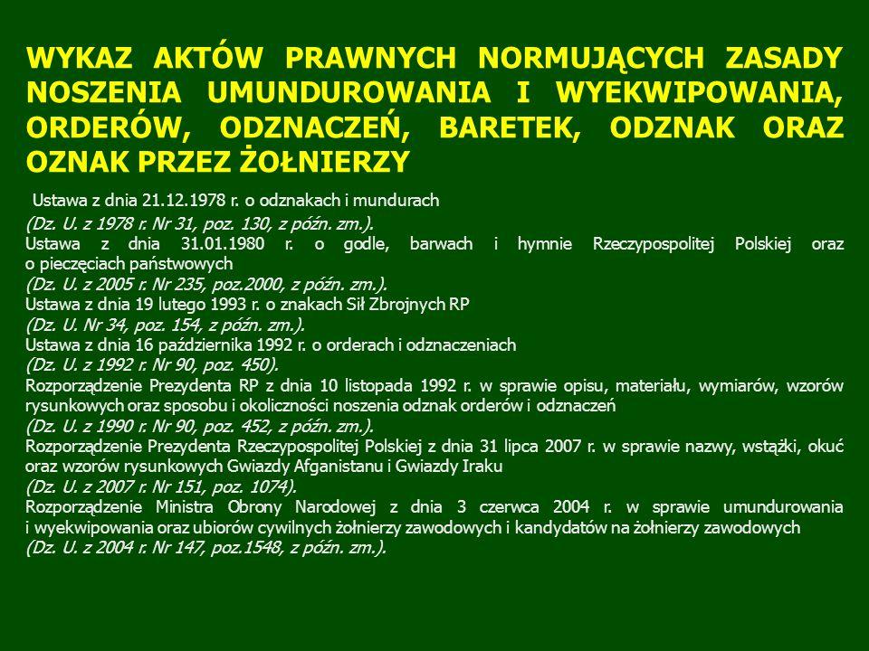 Rozporządzenie Ministra Obrony Narodowej z dnia 29 marca 2004 r.