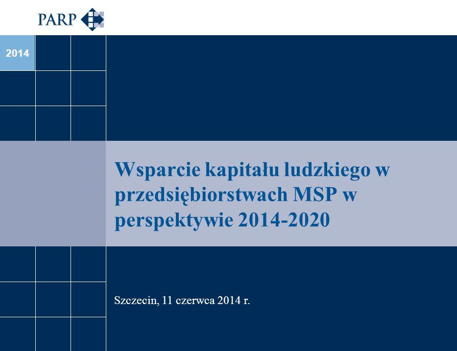 2014 Wsparcie kapitału ludzkiego w przedsiębiorstwach MSP w perspektywie 2014-2020 Szczecin, 11 czerwca 2014 r.