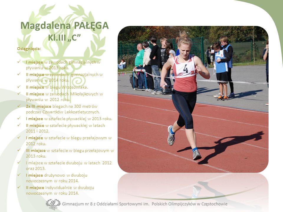 Plebiscyt na najlepszego sportowca Gimnazjum nr 8 z Oddziałami Sportowymi im. Polskich Olimpijczyków w Częstochowie w roku 2014