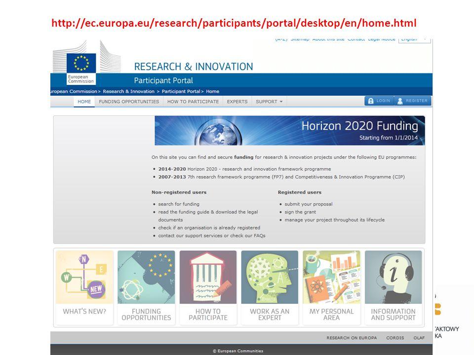 http://ec.europa.eu/research/participants/portal/desktop/en/home.html