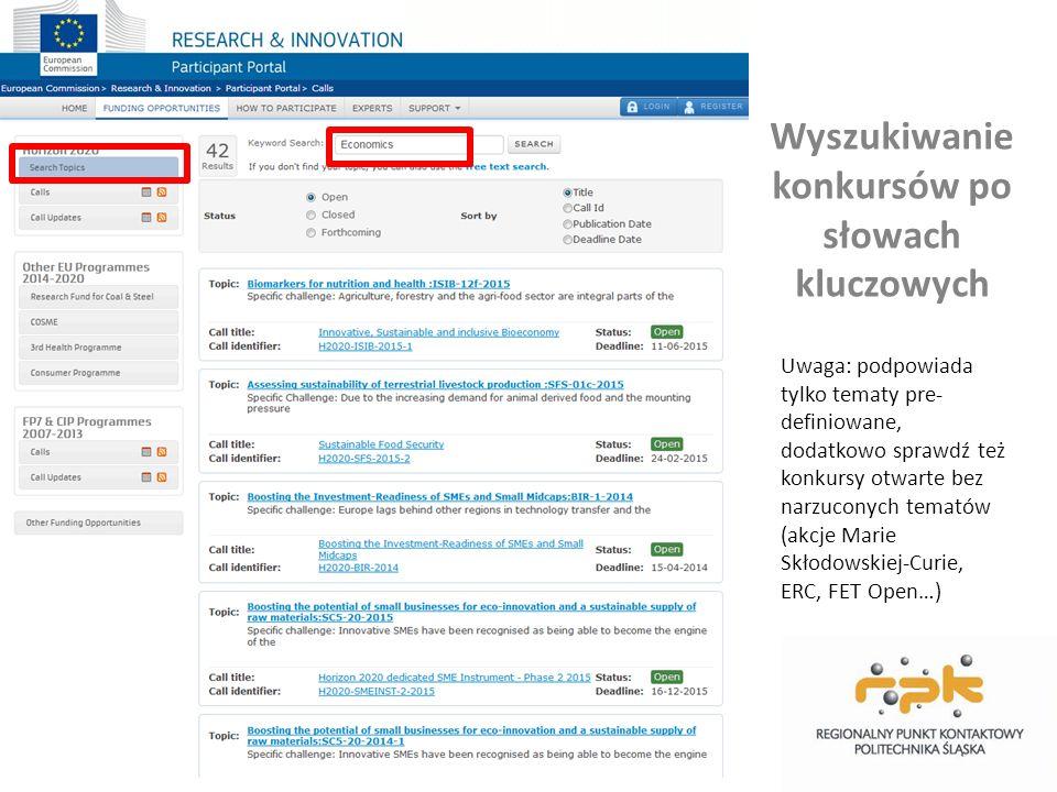 Aktualizacje Uaktualnienia dokumentów, które publikowane są w sprawie konkursów, wyniki ewaluacji