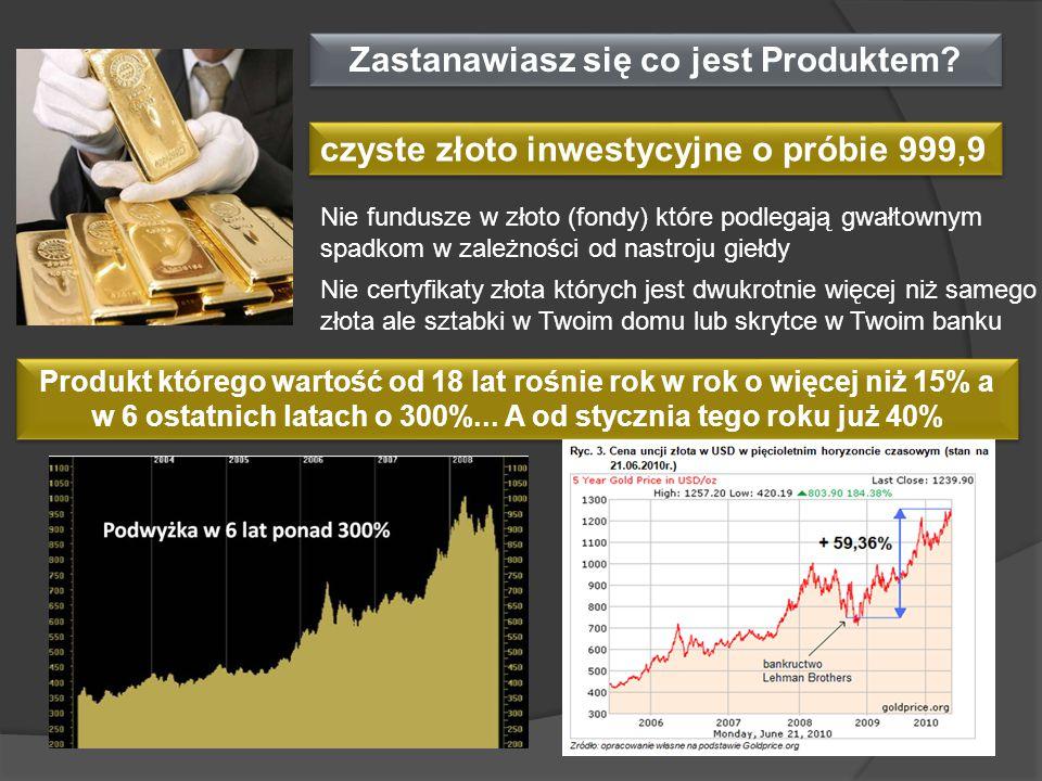 Zastanawiasz się co jest Produktem? czyste złoto inwestycyjne o próbie 999,9 Nie fundusze w złoto (fondy) które podlegają gwałtownym spadkom w zależno