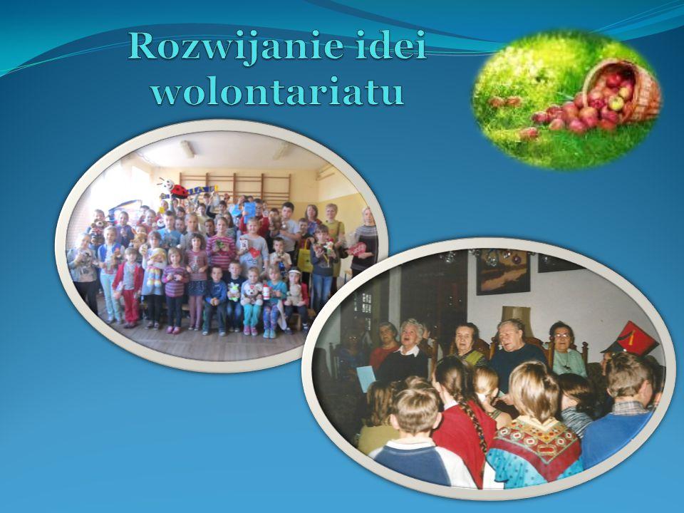 Działania: - realizacja szkolnego programu działań,, Dar serca ( przedsięwzięcia,, I Ty możesz zostać św.
