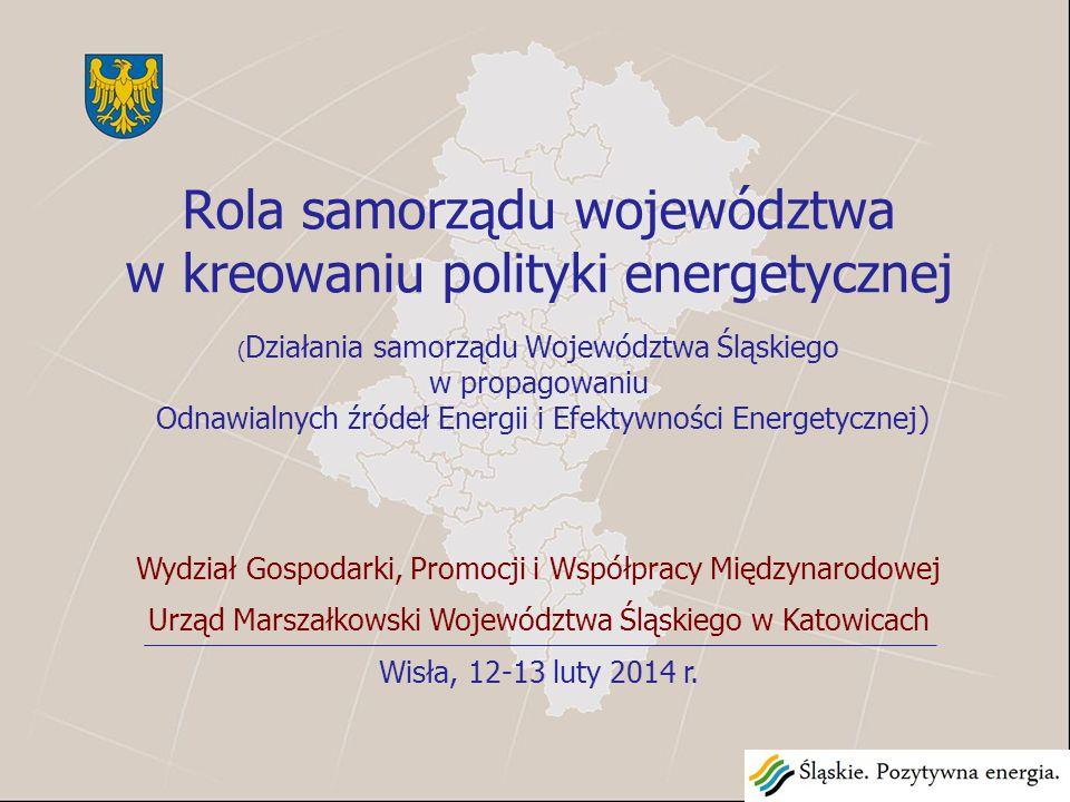 """Samorząd Województwa, rozumiejąc wagę i znaczenie efektywności energetycznej w gospodarce regionu oraz doceniając role i potencjał drzemiący w zasobach Odnawialnych Źródeł Energii, wpisuje się w realizacje zapisów """"Polityki energetycznej Polski do 2030 roku poprzez tworzenie i realizację dokumentów o charakterze wojewódzkim."""