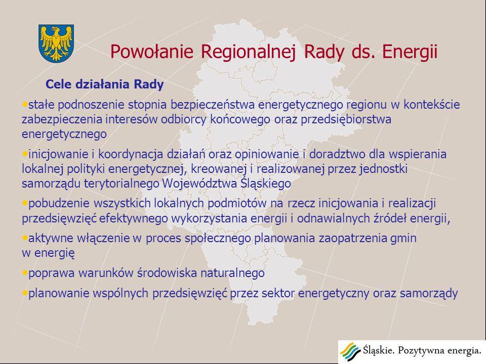 Zadania Regionalnej Rady ds.Energii 1.