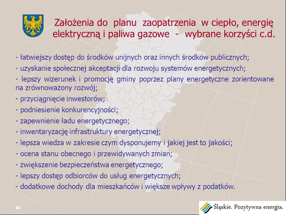 Założenia do planu zaopatrzenia w ciepło, energię elektryczną i paliwa gazowe Pamiętajmy !.