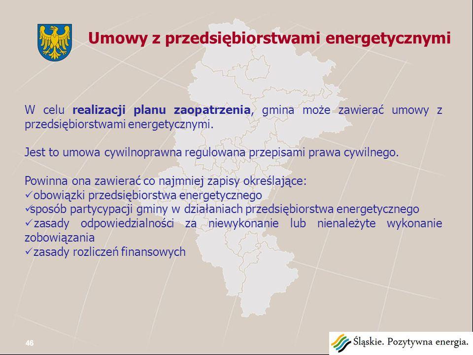 W celu realizacji planu zaopatrzenia, gmina może zawierać umowy z przedsiębiorstwami energetycznymi.
